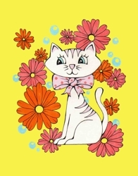 New_art_-_vintage_pink_kitty_with_flowers_preview