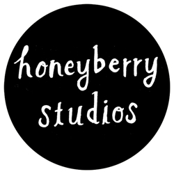 Honeyberry_round_text_only_logo_bw_1.5x1.5_preview