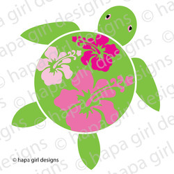 Modern-honu-with-hibiscus-on-shell_preview