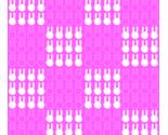 Super_cute_kawaii_white_bunny_rabbits_in_hot_pink_checkered_pattern_thumb