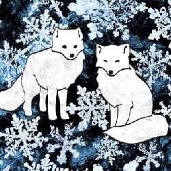 Foxes___flakes_blue_preview