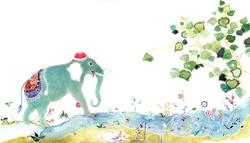 Persian_miniature_blue_elephantjpg_preview