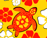 Turtle_and_hibiscus_yel_for_spoonflower2_preview